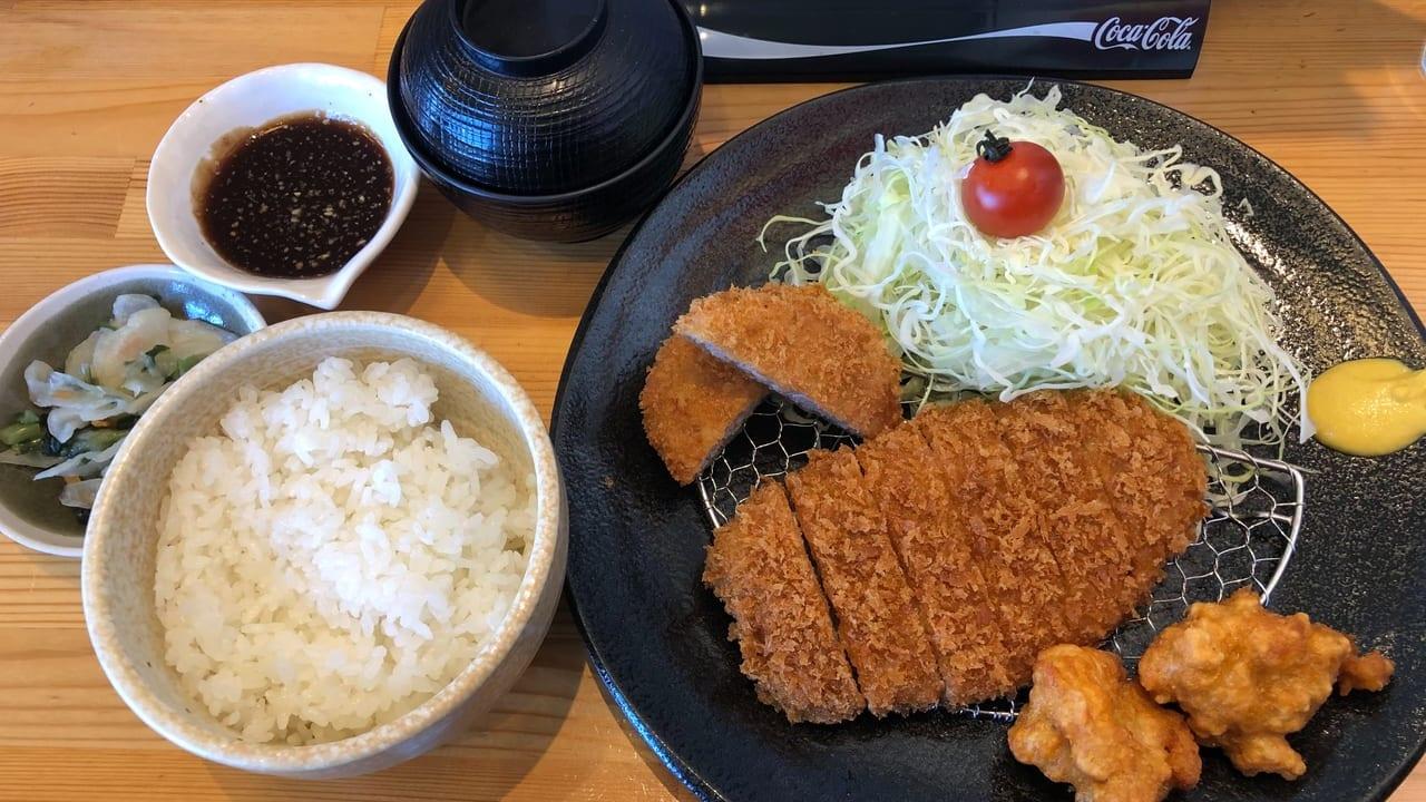 栃木市とんかつ神楽得々ランチ